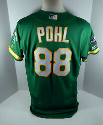 2019 Oakland Athletics Philip Pohl 88 Game Used Kelly Green Jersey 150 Ps P 360