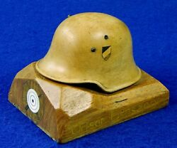 German Germany Antique WW1 Carved Wood Shooting Competition Award