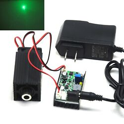 Focusable 520nm 1000mw 1w Green Dot Laser Diode Module Driver Ttl + 12v Adapter