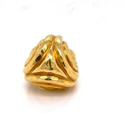 Henry Dunay 18k Yellow Gold Large Cocktail Ring Vintage