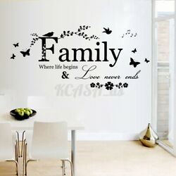 22.5#x27;#x27; Removable Wall Sticker Home Decor Family Letter Vinyl Decal Art Mural *