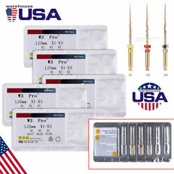 Dental 25mm Endodontic Treatment Root Canal Niti Files X1 X2 X3 For Engine Use
