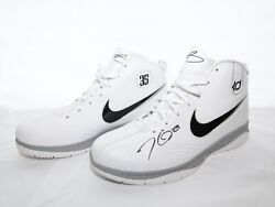 Nike Kd 1 Autographed Kevin Durant Shoes 344472-103 White / Black-silver