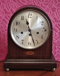 Antique German 'junghans' Bracket 8-day Mantel Clock With Westminster Chimes
