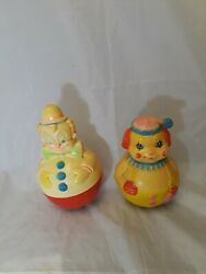 Vintage Toy Sanitoy Rolly Polly And First Years Set Of 2