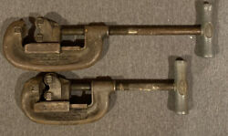 Vintage Ridgid Pipe Cutters No. 1 And 2 | No. 1 1/8- 1-1/4 | No. 2 1/8-2