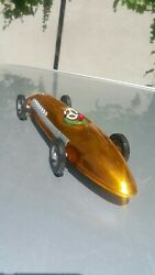 Vintage Toy Race Sport Car Soviet Ussr Cccp Metal Rubber Friction Powered Rare