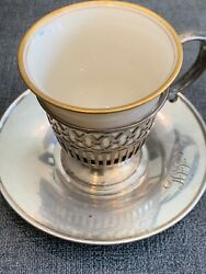 Sterling Silver And Co 29pc Demitasse Tea Or Coffe Cup Set Lenox