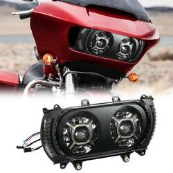 Front Led Headlight Assembly W/ Side Light Fit For Harley Road Glide Fltrx 15-19