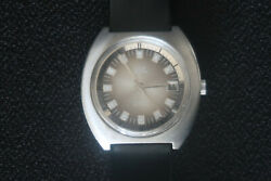 Smiths Astral Mens Automatic Watch Chrome Brown Face Black Strap A Swiss Classic