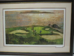 Signed 21 X 34 Print Of A Golf Game Framed 209/700