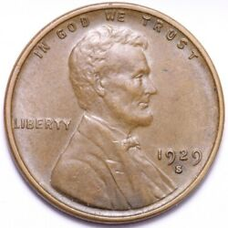 1929-s Lincoln Wheat Cent Penny Choice Unc Free Shipping E811 Knn