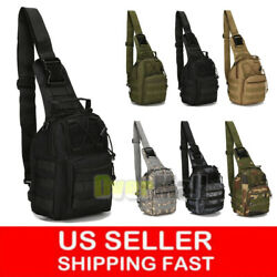 Tactical Sling Military Backpack Pack Rover Small Shoulder Bag Molle Bike Hiking $16.99