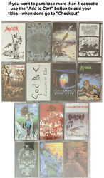 Wild Rags Thrash Metal Cassette Tapes - 14 Different Titles - New Sealed