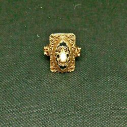 1970s Vintage Statement Ring 14k Yellow Gold W/onyx And Opal 13.3 Grams Size 10