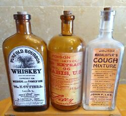 Vintage Family Medicine Hand Crafted Bottles,cannabis,medical Whiskey,macalister