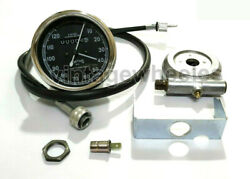 Smiths Replica 120 Mph Speedo Black + Drive And 64 Inches Cable For Classic Bikes