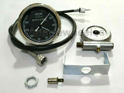 Smiths Replica 80 Mph Speedo Black + Drive And 35 Inches Cable For Classic Bikes
