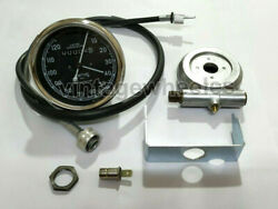 Smiths Replica 120 Mph Speedo Black+ Drive And 40 Inches Cable For Classic Bikes