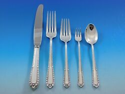 Gadroon By International Sterling Silver Flatware Set For 8 Service 44 Pieces