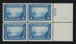 Us 399 5c Pan-pacific Mint Block Of 4 With Plate Vf Og Nh Scv 620