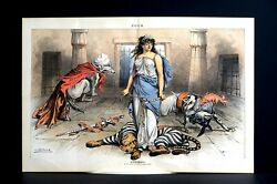 Law and Order 1886 SUPREMACY JAEHNE as TIGER in JAIL ANARCHIST DOG BOYCOTT WOLF