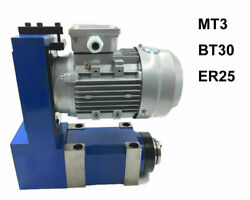 Mt3 Bt30 Er25 Spindle Unit Power Head 8000rpm And 370w Induction Motor Set Usa