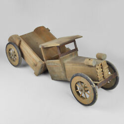 Wooden Toy Truck - Car - Old Large - Wood - Classic Vintage Wooden Toy