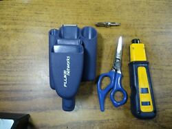 Fluke Networks Dur-a-grip Pouch W/ Scissors And D914s And M110/66 Tip
