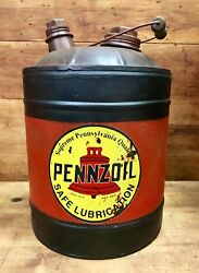 Pennzoil Safe Lubrication 5 Gallon Tin Oil Filler Can With Spout, Handle