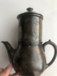 Vintage Silver Plated Espresso Coffee Maker Made For Hotel Des Trois Couronnes