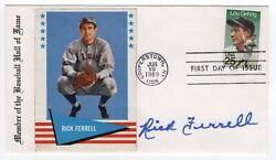 Baseball Rick Farrell Hand Signed Autographed '89 Gehrig Fdc W/ Letter