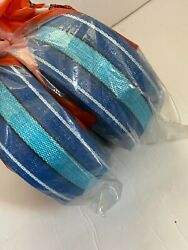 New Vintage Outdoor Furniture Webbing Blue, Teal And White 150 Feet X2