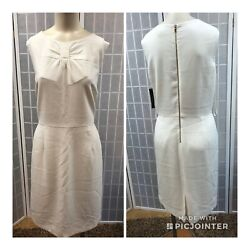 Tahari Woman Dress White Formal Classic New With Tags Elegant Size 14.