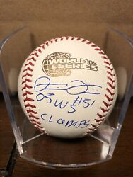 Luis Vizcaino Signed And Inscribed 2005 World Series Baseball Beckettcoa White Sox