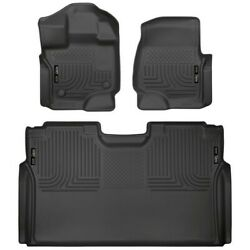 94041 Husky Liners Floor Mats Front New Black For F150 Truck Ford F-150 15-19