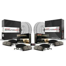 Crk5617 Powerstop 4-wheel Set Brake Disc And Pad Kits Front And Rear New For S80