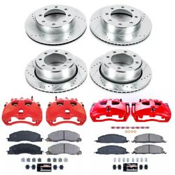Kc5458a Powerstop Brake Disc And Caliper Kits 4-wheel Set Front And Rear For Dodge