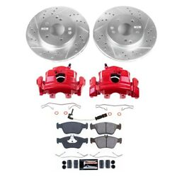 Kc3047 Powerstop 2-wheel Set Brake Disc And Caliper Kits Front For Mercedes