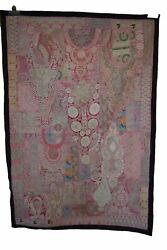 Vintage Tapestry Antique Patchwork Wall Hanging Handmade Fabric Indian