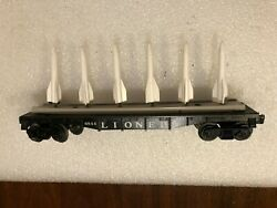Orig 6844 Lionel 6 Missile Carry Flat Car Never Been On Track See More Read