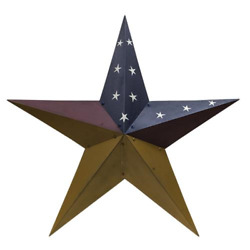 Large 36 Colonial Barn Star Primitive Country American Flag Wall Decor