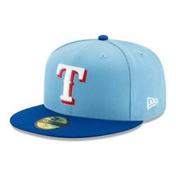 New Era 59Fifty Texas Rangers ALTERNATE 2 Fitted Hat (Light BlueRoyal Blue) Cap $31.99