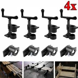 4 Pack 3/4 Wood Gluing Pipe Clamp Set Heavy Duty Pro Woodworking Cast Iron