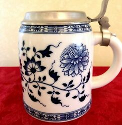4 German Beer Steins / Seidel / Tankards W/ Pewter Lids. New Never Used.