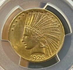1926 10 Indian Pcgs Ms63