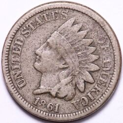 1861 Indian Head Cent Penny Choice Fine+/vf Free Shipping E507 Aex