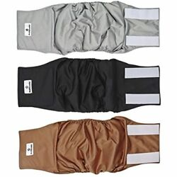 Pet Parents Premium Washable Dog Belly Band 3pack Of Male Diapers Color Size