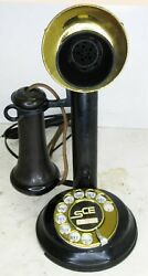 Automatic Electric Candlestick with Rotary Dial Circa 1915 Operational
