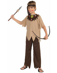 Native American Indian Boy Brave Tribal Warrior Childs Costume-s